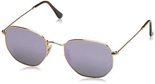 Ray-Ban Unisex-Erwachsene Sonnenbrille Rb 3548n Gold/Wisteriaflash, 54