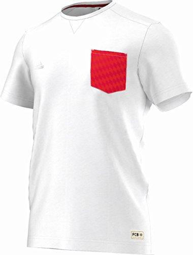 adidas Herren T-Shirt FC Bayern München Tee White