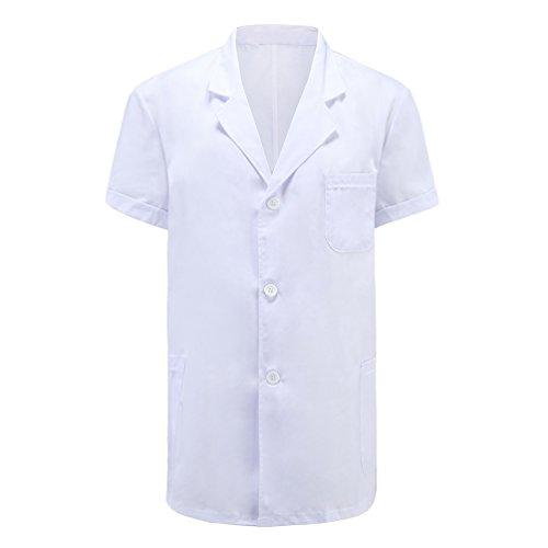Weiß kittel ärzte krankenschwestern bekleidung männer atmungsaktiv resistente bakterien kurzarm kurze abschnitt (XXL, hochwertige ShengXueLan stoff)