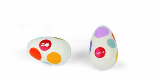 Janod 07611 Konfetti - Sonajero con forma de huevo