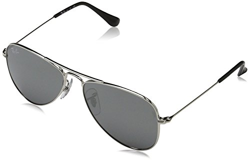Ray-Ban Junior Unisex - Kinder Sonnenbrille 9506S, Black, 50 mm Lens/13 mm Bridge/120 mm Temple