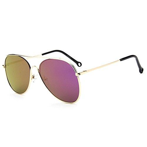 Z-P Fashion Bright Color Film Lens Wayfarer For Women Reflective UV400 Sunglasses 60MM