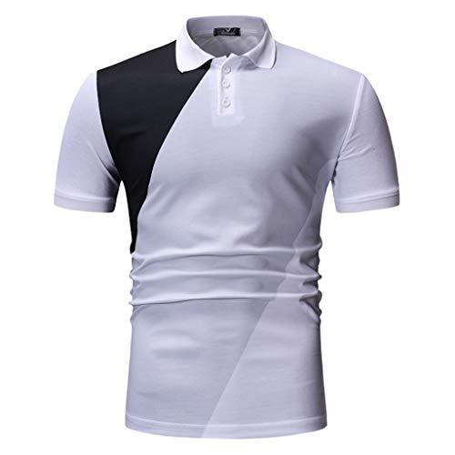 Herren T-Shirt Kurzarm Oberteile Slim fit Freizeitshirt Groß Größe Männer Trainingskleidung Muscle Tops Frühling Sommer Kurzarmshirt ()