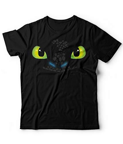 Generico T-Shirt Tshirt Sdentato Furia Buia Toothless Dragon Trainer Cartoni Animati (Nera, M)