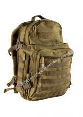 Rucksack Molle Adventure mit Belüftungssystem 45 Liter Schultasche verschiedene Farben Coyote
