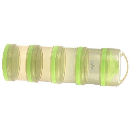 Preisvergleich Produktbild MagiDeal 4 Schicht-Babynahrung Milchpulverspender Vorratsdose durch Packung - Grün