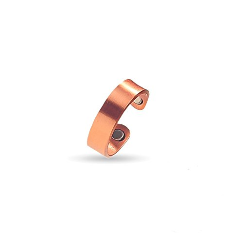 Moneekar Jewels Elegant Pure Copper 3000 Gauss Each Magnetic Therapy Adjustable Ring For Unisex