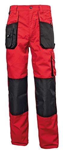 Stenso Emerton® - Pantaloni da Lavoro multitasca Extra Resistenti - Uomo - Rosso/Nero - 50