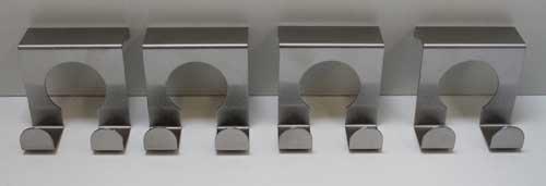 Edelstahl Türhaken SET 4 Stück,Tür Garderoben Kleider Handtuch Bad Küchen Haken (LHS)