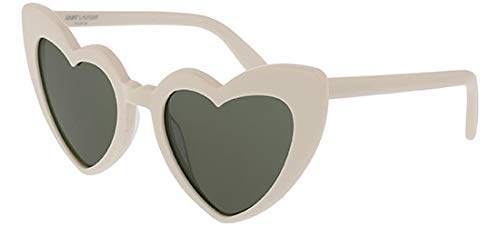 Saint Laurent SL181 LOULOU 003 Ivory SL181 LOULOU Oval Sunglasses Lens Category 3 Size 54mm