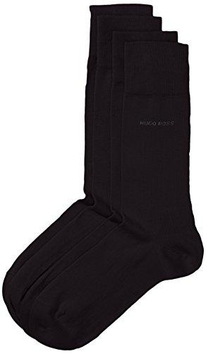 BOSS Hugo Boss Herren Socken Twopack RS Uni 50272214, Gr. 43/46, Schwarz (Black 001)