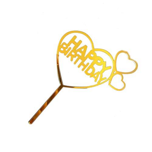 erz-Sammlung Kuchen-Deckel Dessert Dekoration Geburtstags-Party-Kuchen-Flagge ()