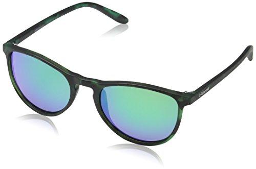 Polaroid Unisex-Kinder PLD 8016/N K7 SED Sonnenbrille, Grün (Havana Green Grey Speckled Pz), 48