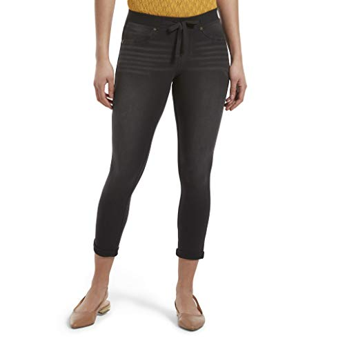 HUE Women's Sweatshirt Denim Cuffed Capri Leggings -