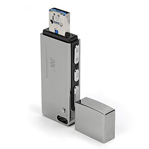 ZYG.GG USB-Mini-Sprachrecorder, 8-GB-Memory-Stick in Einem, Audio-Digital-Diktiergerät, Mac/Windows-kompatibel, Kleiner tragbarer Profis, Studenten,32GB