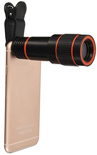 Stealkart Cell Phone Camera Lens, 12X Zoom Telephoto Universal Clip On Lens Kit for iPhone 7/6S/6 Plus/5/4,Samsung, Android and Other Phones