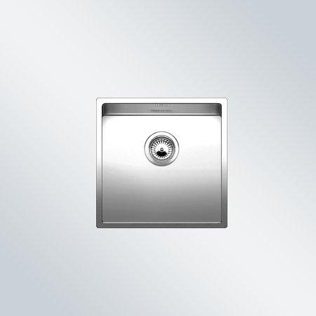 Preisvergleich Produktbild Blanco Claron 400-IF Edelstahlspüle Seidenglanz Spülbecken Küchenspüle Flachrand