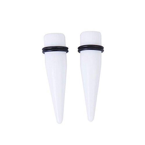 LEORX 16mm in acrilico orecchio Stretching Kit acrilico Expander conicità della barella dell'orecchio spine