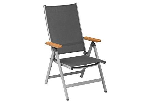 Kettler Granada verschiedenen Aluminium Rahmen Armlehnen Stuhl, Polyrattan, silber/anthrazit, 65x...