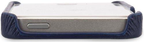 Stilgut, couverture arrière en cuir véritable pour l'iPhone 5, 5s & iPhone SE d'Apple, beige azul - azul marino
