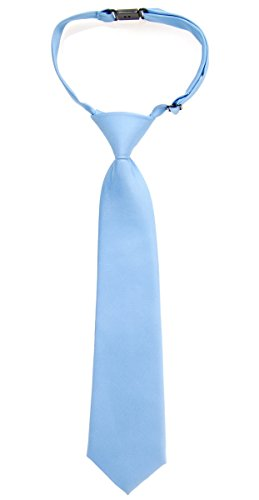 Retreez Solid Matte Color Woven Microfiber Pre-tied Boys Tie