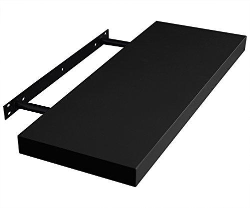 EUGAD 0050QJ Wandregal Wandboard Buchregal Hängeregal DVD CD Regal Holz Board 60cm lang schwarz