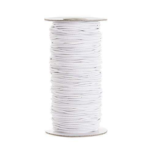 Trimming Shop Weiß Elastisch Band Zum Nähen und Handwerk - Spule Elastisch Flach Band für Bekleidung - Dehnbar Schnur für Röcke und Hosen Hosenbund - Weiß, 10 m, weiß -