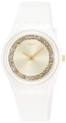 Swatch Herren Analog Quarz Uhr mit Silikon Armband GW199