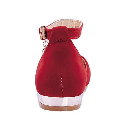 Confortevole ed elegante piatto scarpe donna Appartamenti Primavera Estate Autunno altri Fleece Office & Carriera Abbigliamento Sportivo tacco piatto Glitter spumanti Cava Fibbia-outBlack blu rosso beige