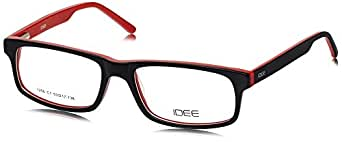IDEE Full Rim Eyewear Frame (ID1256C1FR|53|Matt Black and Red)