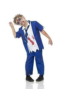 Karnival Costumes- Halloween Zombie Schoolboy Disfraz, Multicolor, small (84585)