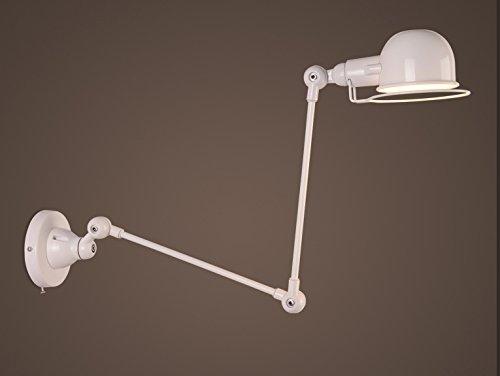 BAYCHEER Applique Murale Rotatif Industrie Abat-jour Rétro Style de Lampe de Table -Blanc
