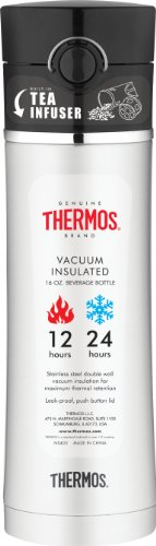 Thermos 16-Ounce Drink Bottle with Tea Infuser, Black