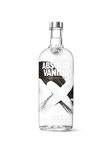 Absolut Vanilia – Absolut Vodka mit Vanillearoma – Absolute Reinheit und einzigartiger Geschmack in ikonischer Apothekerflasche – 1 x 1 L