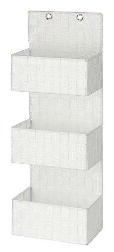 Wenko Organizer Adria zum Hängen - Badkorb, 3 Etagen, 25 x 72 x 15,5 cm, weiß