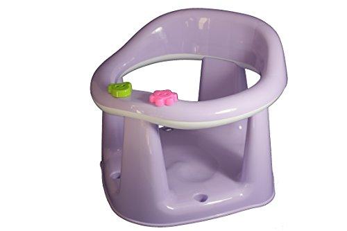 Baby Badesitz Badewannensitz Badewanne Kinder Badering mit Saugfüße (Lila)