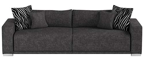 Collection AB Big Sofa London-XXL Struktur grau, 287x103 cm,
