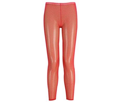 Lycra Spandex Leggings (BONAMART ® Damen Sexy Hipster Transparent Lycra Leggings Leggins Hose Lang)