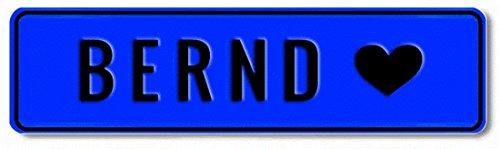Geprägtes Namensschild zum Selbstgestalten ✓ Witterungsbeständig ✓ Vielfarbig ✓ Ideale Geschenkidee | Individuelles Nummernschild, Aluminium-Schild | Autoschild mit Namen & Spruch selbst gestalten | Aluschild, Kfz-Kennzeichen-Schilder mit Wunschtext