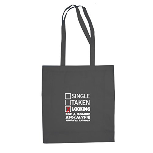 Looking for a Zombie Apocalypse Surival Partner - Stofftasche / Beutel, Farbe: grau