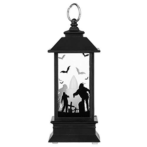 Eboxer Decoración de Lámpara de Vela de Halloween, Lámpara de Aceite de Simulación de Fantasma de Halloween para Festival de Halloween(Mano Fantasma)