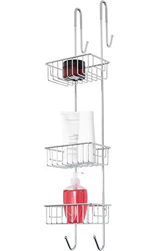 Bamodi Duschablage zum Hängen Edelstahl rostfrei - Duschregal ohne Bohren für Bequeme Aufbewahrung von Shampoo - Rutschfester Duschkorb zum Einhängen (Verchromt, 83 cm)