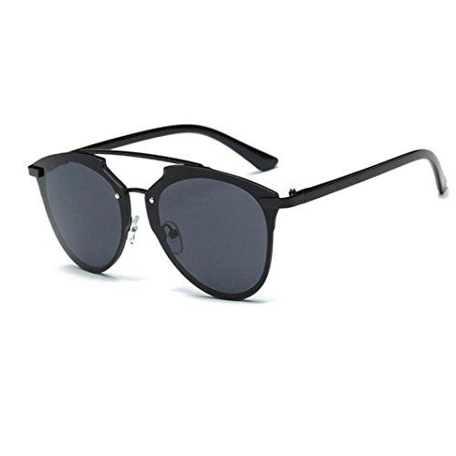 Winwintom Mujeres Hombres verano Vintage Retro moda gafas de aviador unisex de gradiente de color de lentes de espejo (Color A)