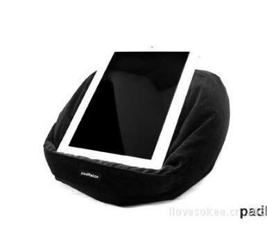 wBest Runde Form Tablet, iPad Lesen Rest Kissen für E-Reader, iPad Mini, iPad Air, iPad Air 2, iPad Pro 24,6cm Zoll, iPad Mini 4, iPad 2/3/4, Samsung Galaxy Tablet, Kindle, Schwarz