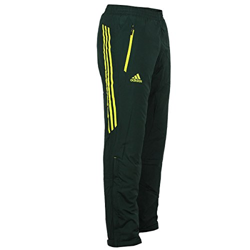 adidas Outdoor Herren Hose Universal Padded Pant warm wattiert (dunkelgrau-gelb, 46 (S) D4) (Trainingshose Gefütterte)