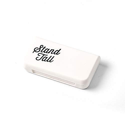 Demarkt Pillenbox Organizer, Klein Einfach Pillendose Vitamin Caddy Tablettenbox mit 3 Fächer für Reise/Urlaub/Outdoor Sport