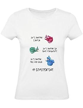 Social Crazy T-Shirt Donna Cotone Basic Super Vestibilità Top Qualità - Le mie Fatine Divertente Humor Made in...