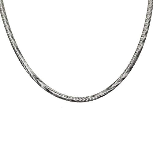 Larg 3mm Plaqu/é Or Maille For/çat Neuf Helios Bijoux Long 50cm Chaine Collier Homme