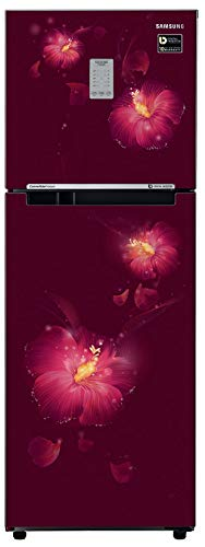Samsung 253 L 2 Star Frost Free Double Door Refrigerator(RT28N3722R3/NL, RT28N3722R3/HL, Rose Mallow Plum, Convertible, Inverter Compressor)