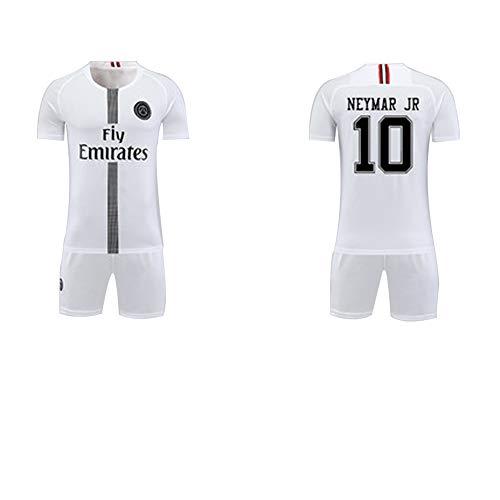Junge Kostüm Basketball Spieler - FNBA Paris Neymar JR 10# Kinder/Jugend Heimtrikot und Shorts, Kostüm Sportbekleidung Herrenbekleidung-White-120